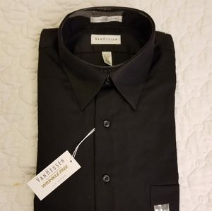 Van Heusen Black Dress Shirt NWT Size Large